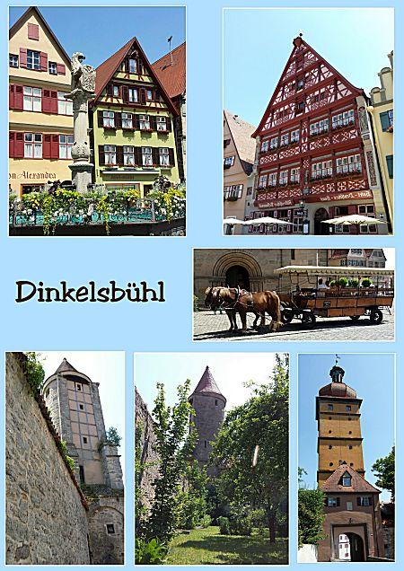 Een mooi stadje Dinkelsbühl
