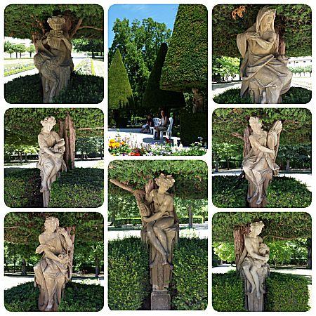 Prachtig park met veel beelden