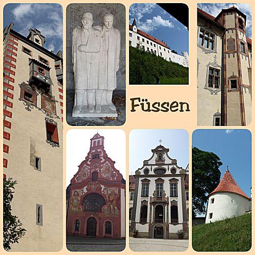 De bezienswaardigheden in Füssen