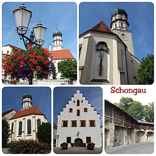 Door het plaatsje Schongau