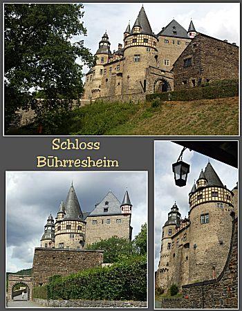 Het kasteel van buiten gezien