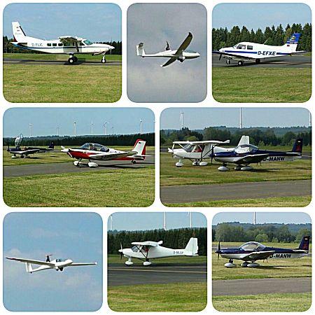 Veel vliegtuigjes