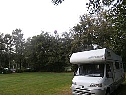 Een mooie plek op de camping