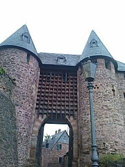 De ingang toegangspoort