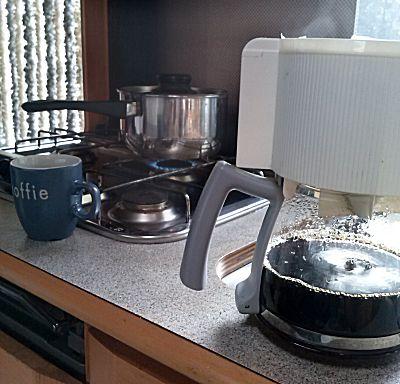 De koffie is bijna klaar
