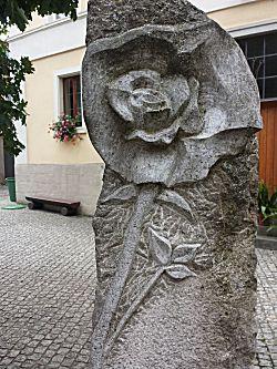 De roos hoort bij het plaatsje