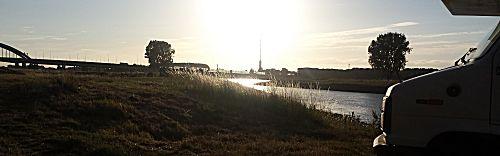 Uitzicht vanaf de camperplaats