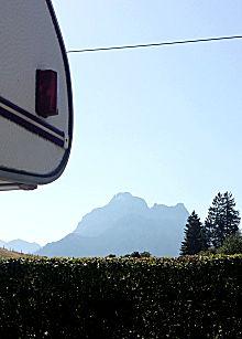 Uitzicht camperplaats