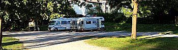 De camperplaats in Peiting