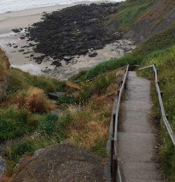 De trap naar he tstrand