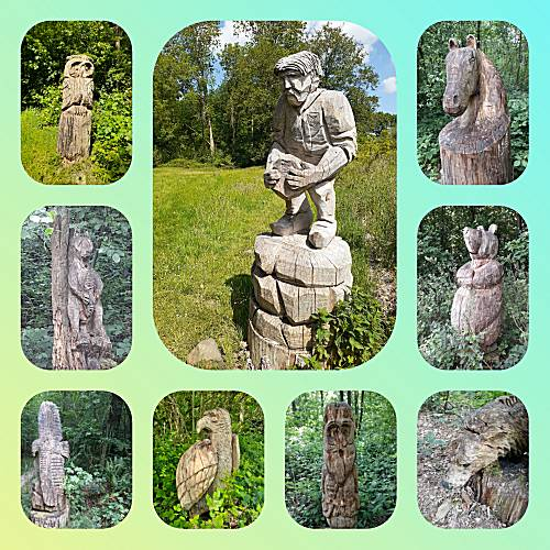 houtsculpturen pad