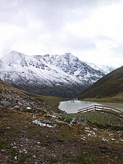 Het meer op de berg