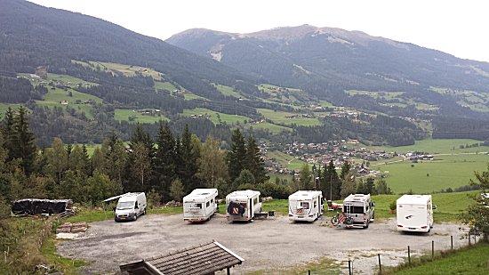 De camperplaats Gasthof Friedburg