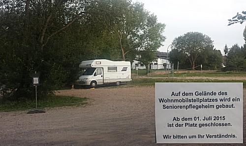 De opgeheven camperplaats