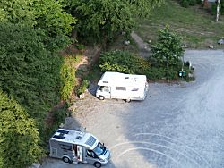 uitzicht naar de camperplek