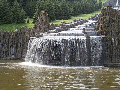 Het water over de plateaus