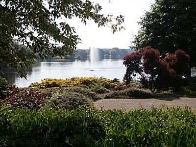 Mooi park bij het meer
