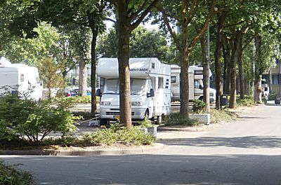 De camperplaats in Bochelt