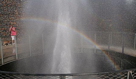 Zelfs een regenboog ontstaat er