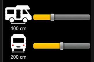 De afstand tussen de wielen opgeven