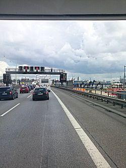File op de snelweg