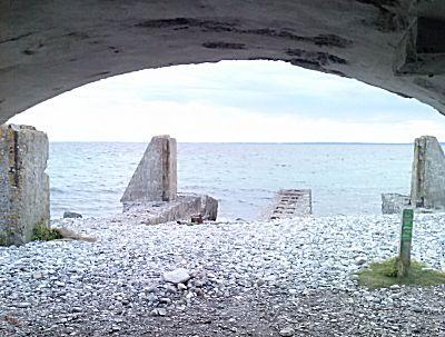 Uitzicht uit de bunker