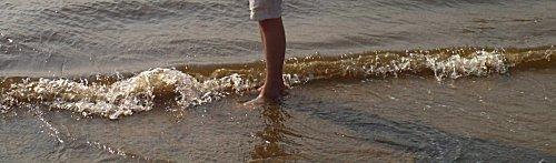 Met de enkels in zee gaat nog net