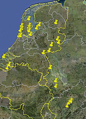 Google earth overzicht reeds bezochtte camperplaatsen