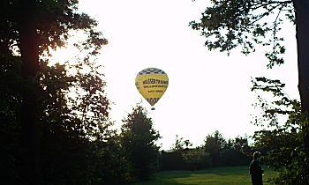 Landende luchtballon