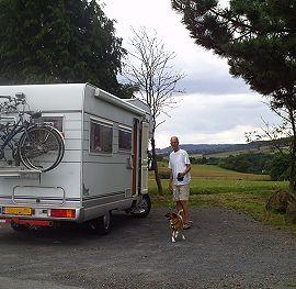 Wim bij camper