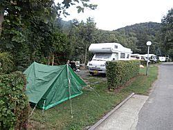 De plaats op de camping